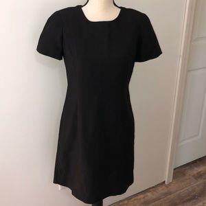 AKA Eddie Bauer black linen blend dress Size 4P